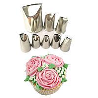 Набор кондитерских насадок №37 для розы 8 шт