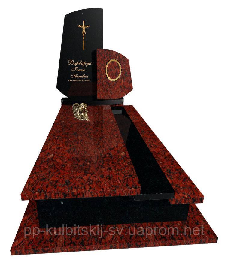 Пам'ятник з граніту Елітний одинарний Р5043