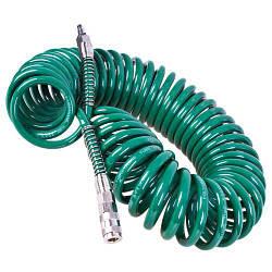 Шланг спиральный для пневмоинструмента 8х12ммх10м с переходниками