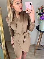 Платье модное из замша