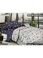Евро комплект постельного белья двуспальный ранфорс ЗВЕЗДОПАД - 240х220 см (1822077)