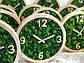 Годинники настінні з дерева і Норвезького моху (25 см). Настільні годинники., фото 5