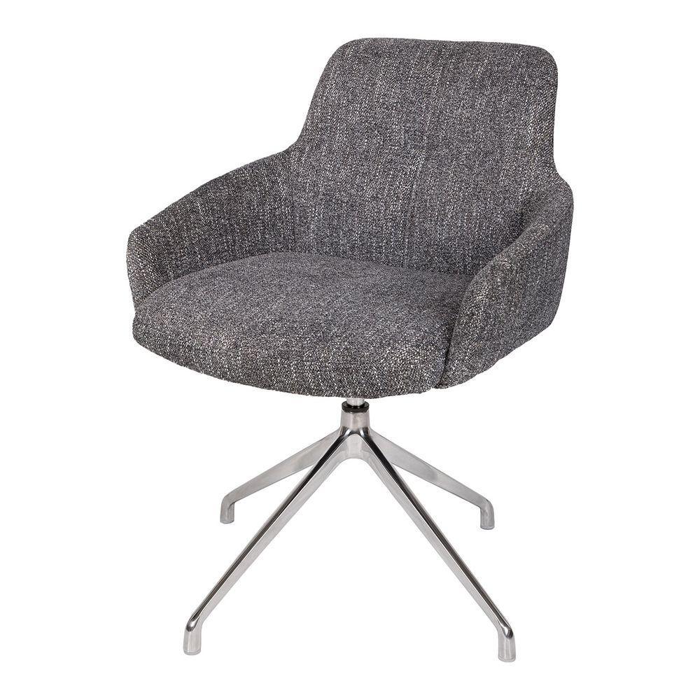 Кресло поворотное OLIVA (Олива) серое от Niсolas