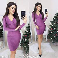 Модное облегающее платье из люрекса арт 8037