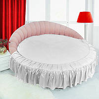 Подзор на Круглую кровать Белый