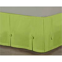Спідниця для ліжка Салатова Модель 8 строгий Мodern 90*200/30