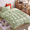 Подростковый комплект постельного белья Сатин Премиум Оливковый