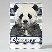 "Обкладинка на паспорт ""Панда"", Обложка для паспорта экокожа ""Панда"" 22"