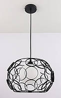 Люстра потолочная подвесная на 1 лампочку (30х32х32 см.) Черный YR-1753/1