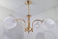 Люстра потолочная подвесная на 3 лампочки (34х54х54 см.) Золото YR-8617/3, фото 1