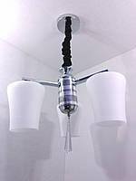 Люстра потолочная подвесная на 3 лампочки (35х40х40 см.) Хром YR-9993/3, фото 1