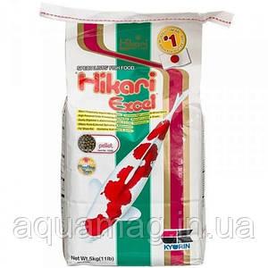 Корм для карпов кои Hikari Excel 5 kg (усиления окраски, быстрый рост, корм для прудовых рыб)