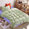 Подростковый комплект постельного белья Сатин Премиум Олива + Сирень
