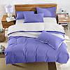 Подростковый комплект постельного белья Сатин Премиум Сирень + Белый