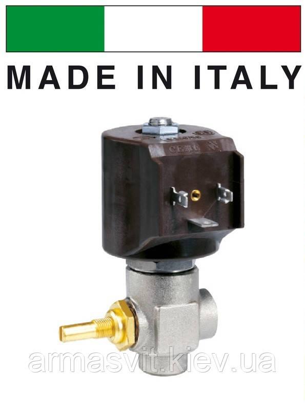 Электромагнитный клапан для пара 1/4 CEME (Италия) 9922, НЗ, 180 C, 220В нормально закрытый угловой