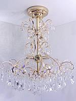 Люстра потолочная хрустальная (59х49х49 см.) Золото YR-90050/4
