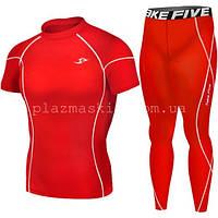 Компрессионная одежда Take Five футболка + штаны краcные