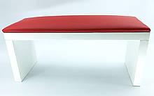 Подставка под руку для маникюра на деревянных ножках , красная.