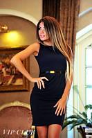 """Элегантное черное платье """"Три баски"""""""