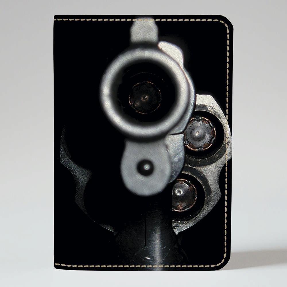 """Обкладинка на паспорт """"Дуло револьвера"""", Обложка для паспорта экокожа """"Дуло револьвера"""" 693"""