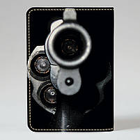 """Обкладинка на паспорт """"Дуло револьвера"""", Обложка для паспорта экокожа """"Дуло револьвера"""" 693, фото 2"""