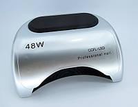 LED + CCFL лампа гибрид на 48 вт, для гель-лаков и для геля с таймером 10, 30 и 60 сек серебро.