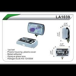 Фары дополнительные DLAA 1039 RY/H3, 12V, 55W, 159*101мм, крышка (LA 1039 RY)