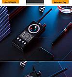 Детектор радиожучков, прихованих відеокамер, gps трекерів K68, фото 7