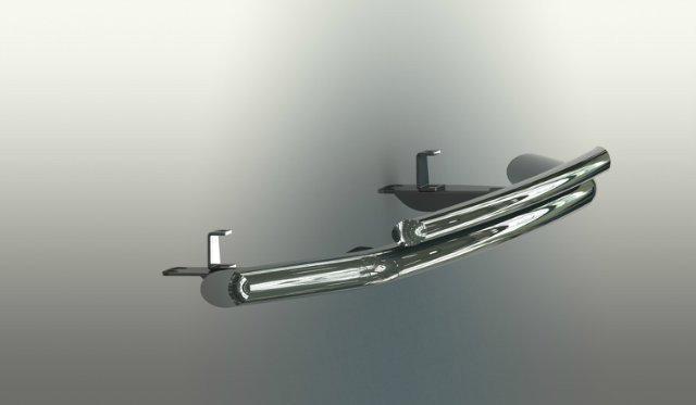 Кенгурятник  Honda CR-V (2007-2012) / ус двойной