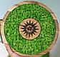 Часы настенные из дерева и Норвежского мха (35 см). Настольные часы., фото 2