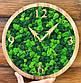 Годинники настінні з дерева і Норвезького моху (35 см). Настільні годинники., фото 3