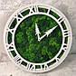 Часы настенные из дерева и Норвежского мха (35 см). Настольные часы., фото 5