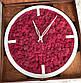 Годинники настінні з дерева і Норвезького моху (35 см). Настільні годинники., фото 6