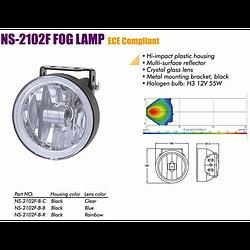 Фары дополнительные NS-2102 F-B-C H3/12V/55W/D=100mm