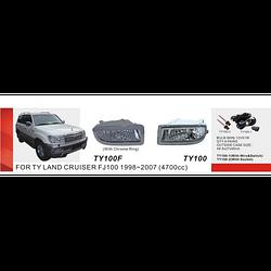 Фары дополнительные, Toyota LC FJ100, 1998-2007, TY-100-2-W