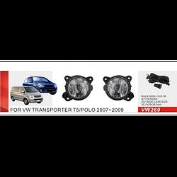 Фары дополнительные модель Volkswagen Polo 2007-2009/Transporter T5 -2010/Skoda Fabia, эл.проводка