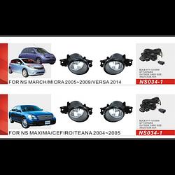 Фары дополнительные модель Nissan Maxima/Cefiro/Teana 04-05/Altima/Qashqai -08/Micra 05-09/NS-034-1/эл.проводка