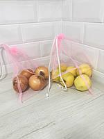 Эко мешочки для продуктов, овощей и фруктов,  5 шт в комплекте
