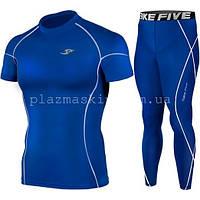 Компрессионная одежда Take Five футболка + штаны синий