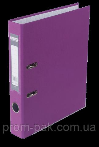 Реєстратор одност. JOBMAX А4, 50мм PP, бузковий, збірний