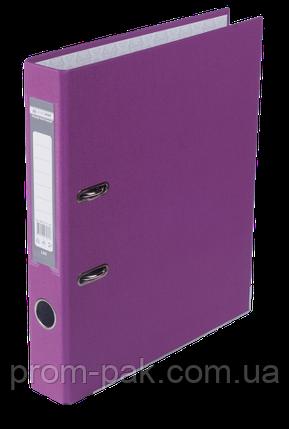 Реєстратор одност. JOBMAX А4, 50мм PP, бузковий, збірний, фото 2
