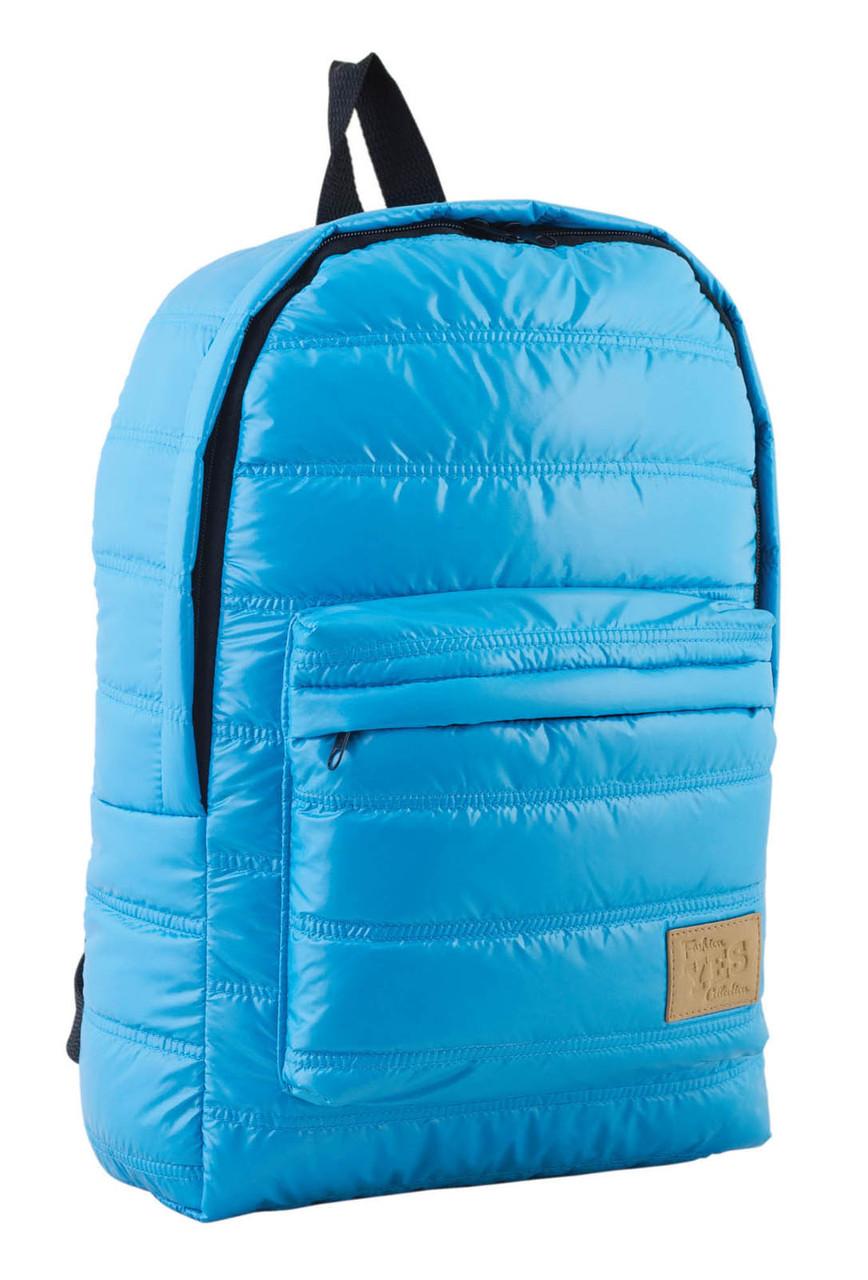 Рюкзак городской прогулочный YES ST-15 голубой, 39*27.5*9 код: 553949
