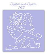 Трафарет для пряников ангел