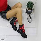 Демисезонные женские черные ботинки, эко кожа, фото 4