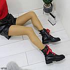 Демисезонные женские черные ботинки, эко кожа, фото 6