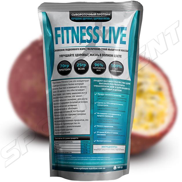 Протеин Fitness Live 900 г, маракуйя