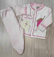 Комплект роддом 2 предмета для новорожденного 2-4 мес   арт 5228  Турция.