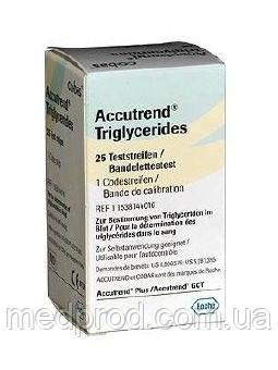 Тест-полоски Триглицериды №25 Tg к экспресс-анализатору Аккутренд Плюс