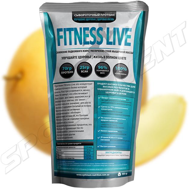 Протеин Fitness Live 900 г, дыня