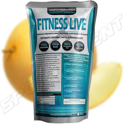 Протеин Fitness Live 900 г, дыня, фото 2